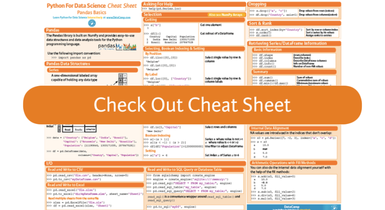 Pandas Cheat Sheet for Data Science in Python – PyBloggers