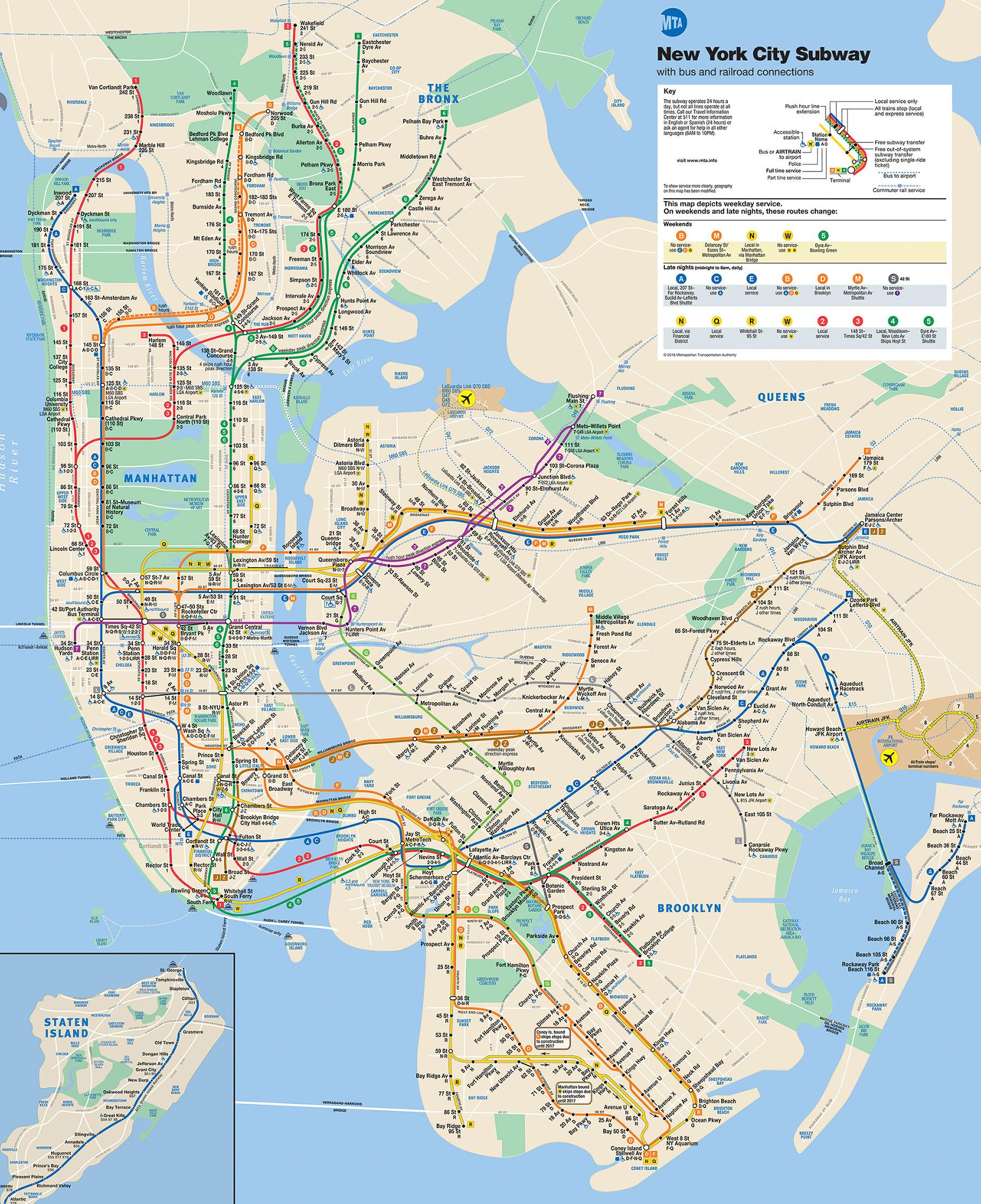 Ny Transit Subway Map